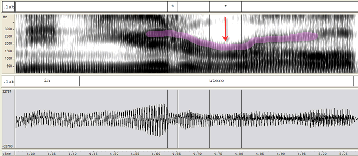 r low F3 spectrogram